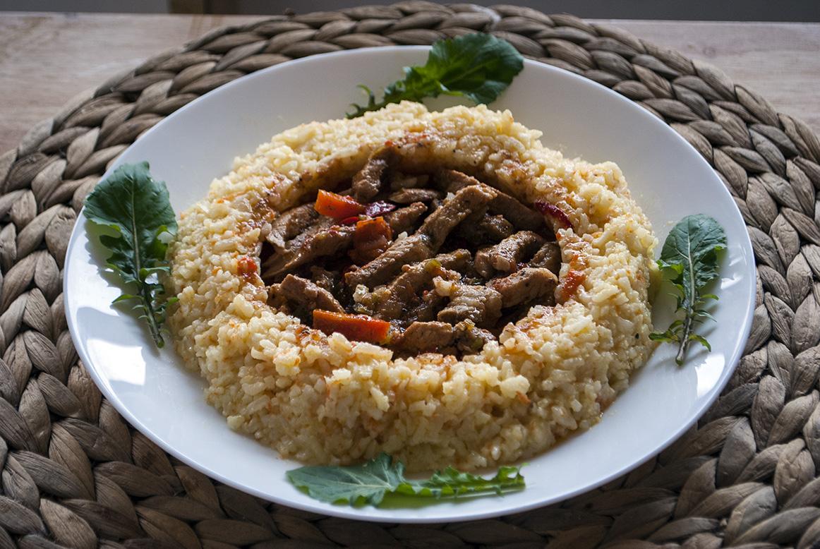 risotto cu cotlet porc