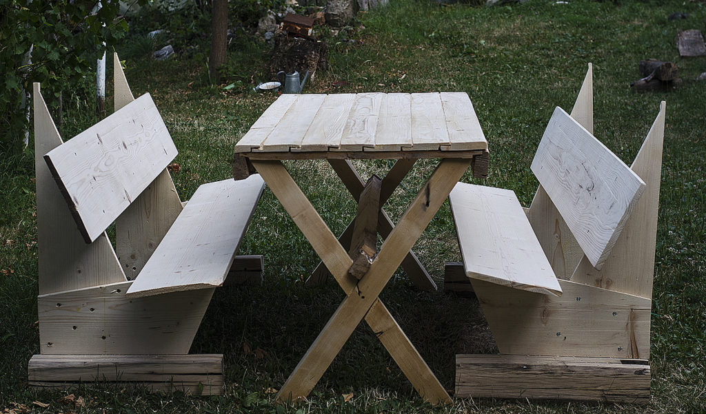 dyi masa si banci din lemn